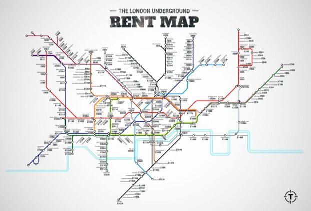 London re-imagined: the cost of renting by underground stations